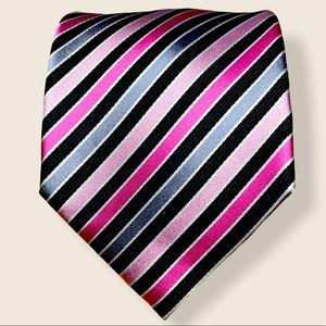 Geoffrey Beene striped 100% Silk tie